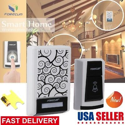 New Waterproof Wireless 36 Music Tune Melody Doorbell Remote Control 2 Receiver