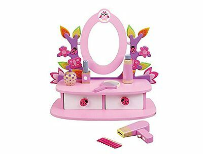 Childrens, Kids, Wooden Dressing Table, Vanity Mirror Set with Accesories by