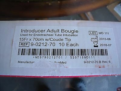 Box of 10 SunMed Adult Introducer Bougie Ref 9-0212-70 15Fr X 70cm coupe tip! j2