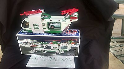 A 2001 Hess Helicopter with Motorcycle and Cruiser (New in Box)