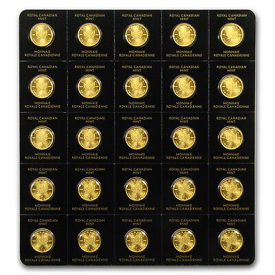 2017 25x 1 gram Gold Maple Leafs - Maplegram25™ (In Assay Sleeve) - SKU #118150