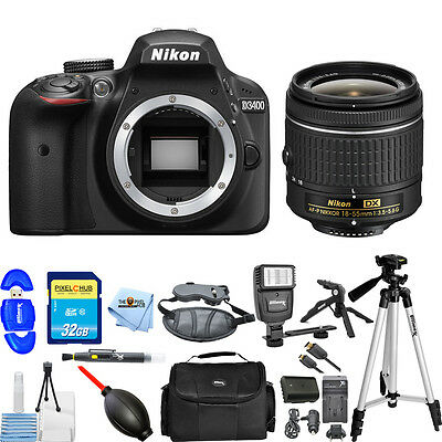 Nikon D3400 DSLR Camera with 18-55mm Lens (Black)!! STARTER BUNDLE BRAND NEW!!