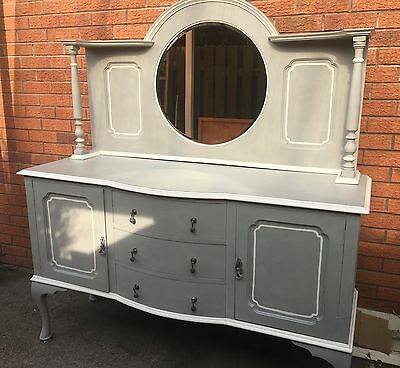 Sideboard With Mirror And Queen Ann Legs Annie Sloan Paris Grey And White