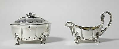 Solid silver sugar bowl and creamer. Sweden, 1912/ Norway, 1903.