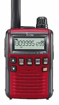 Icom IC-R6 Sport (Red) Receiver, 0.10-1309MHz - Requires 2 x AA Batteries