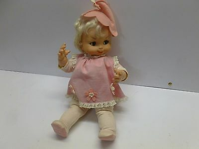 Vtg Retro Mod  60s Baby Doll Toy Vogue Posy Pixi Pixie Pink Blonde 17""