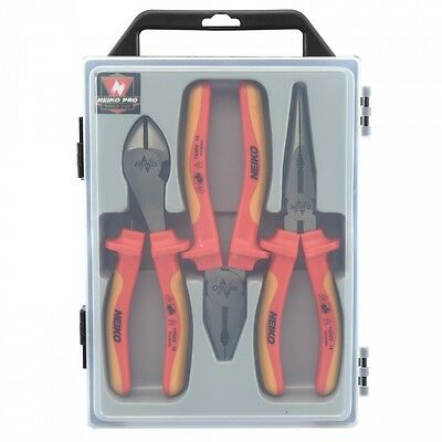 Insulated Pliers Set Contractors Grade 1000 Volt I 3 PCS