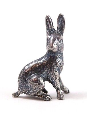 Fine Vintage Sterling Silver Miniature Rabbit Figurine
