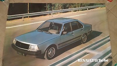 Affiche poster Renault 18 Turbo
