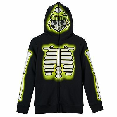 NWT Tony Hawk skeleton full-face SWEATSHIRT hoodie boys sz. S M L XL