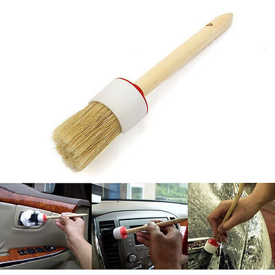 Wooden Handle Dia Round Bristle Chalk Oil Paint Painting Wax Brush Tool Kit 10""