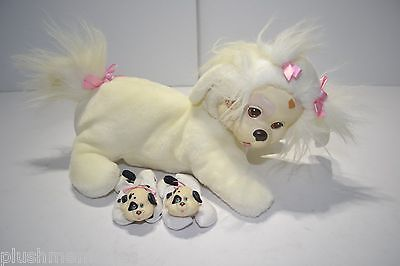 Puppy Surprise Hasbro Plush Vintage 1991 White Puppy Dog Puppies 8800 Hard Face