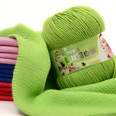 Wool Yarn Knitting Cashmere Modern baby soft Silk protein velvet Crochet 50g Hot