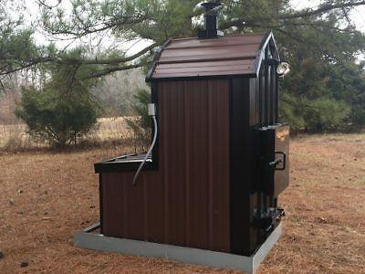 NEW AD -WaterLess Wood Outdoor Burner Furnace Forced Air -No Rust! No chemicals!