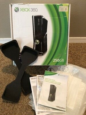 Xbox 360 Slim 250Gb ☆ Empty Box, Inserts & Manual Only - No Console ☆Ships Fast