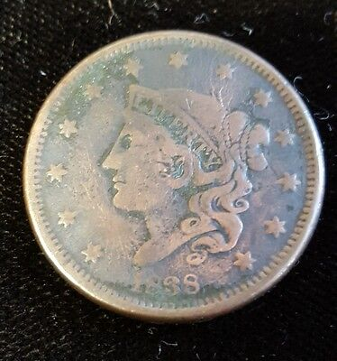 1838 Large Cent, VG