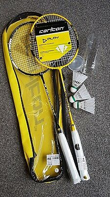 New Carlton Badminton Set, 2 Rackets & 3 Shuttlecocks in Case