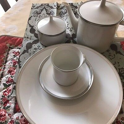 Rosenthal Dinner Set in Gala Grey with Platinum Trim