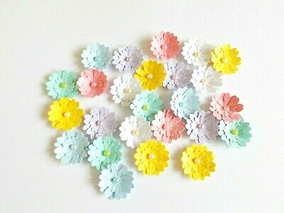 Flower Card Embellishments Toppers Floral Scrapbooking Paper Craft Supplies