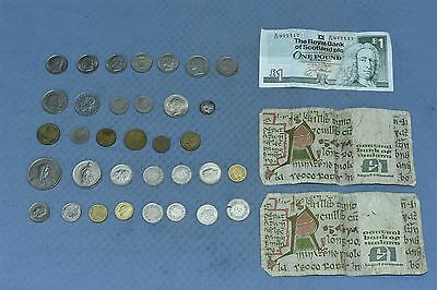 Vintage MIXED LOT of 41 WORLD COINS PAPER SWISS GERMANY BELGIUM DENMARK + #03859