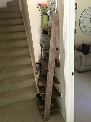 Handmade Rustic Large Ladder Shoe Rack made from Reclaimed Pallet Wood