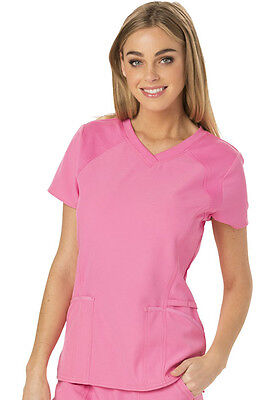 Scrubs HeartSoul Love 2 Love U V Neck Scrub Top HS660 PNKH Pink Free Shipping