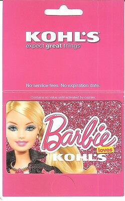 """KOHL'S """"Barbie"""" Collectible Gift Card  No $ Value (collectible only)"""