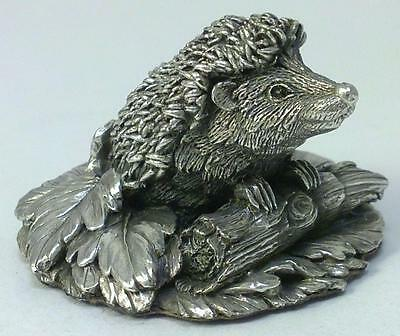 Vintage hallmarked Sterling Silver Hedgehog Figurine – 1992 by Country Artists