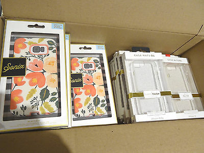 Lot of 25 OEM Sonix Samsung Galaxy S6 Edge & Case-Mate iPhone 6 & 6s Cases