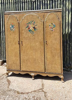 Superb Quality Old French Louis Xv Style Triple Armoire,wardrobe.shabby Chic.