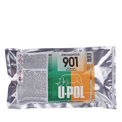 U-Pol Stronghold 901 Semirigid Black Incredibly Strong Adhesive 50ml Cartridge