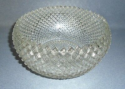 """Vtg Anchor Hocking Miss America clear cupped bowl 8"""""""