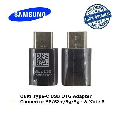 OEM Genuine Type-C USB OTG Adapter Connector for Samsung Galaxy S8/S8+ Note8 Lot