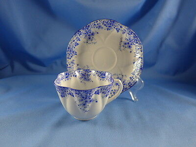 Vintage SHELLEY Bone China England DAINTY BLUE Set Cup & Saucer