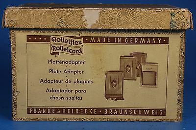 Vintage Rollei Rolleiflex TLR Twin Lens Reflex Camera Plate Adapter Set with Box