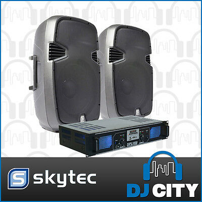 Skytec SPJ1200 12-Inch PA Speaker Package with SPL 1000 watt Amplifier USB, S...