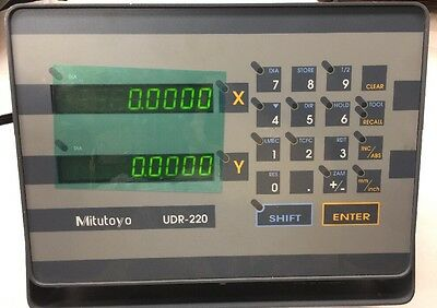 Mitutoyo Digital Read Out Counter DRO UDR-220 2L 174-693-1 L04
