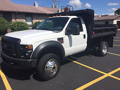2008 Ford F550 4X4 Diesel Dump Truck w/ Central Hyd, Only 49K mi! -No Reserve