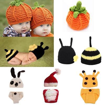 Newborn Baby Animal Costume Set Baby Photo Photography Prop Outfits 0-6 M
