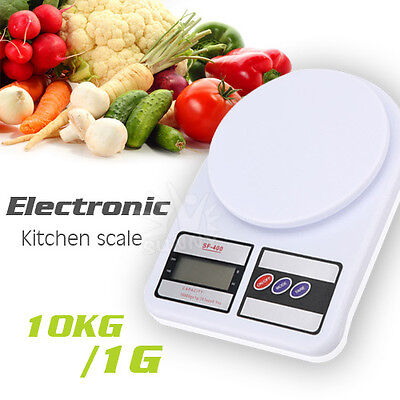 10kg/1g Digital Electronic Kitchen Scale LCD Food Weighing Postal 10000g