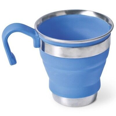 Companion Popup Stainless Steel/Silicone Mug Blue 490ml