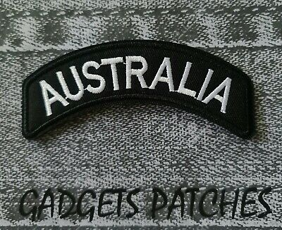 Australia Biker Motorcycle Vest Embroidered Patches Badge Iron Sew On