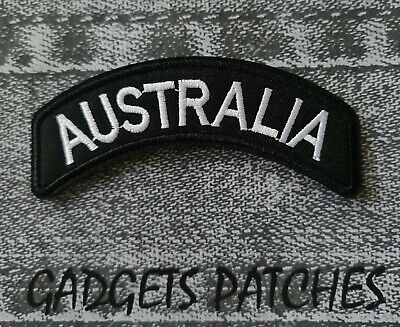 Australia Rocker Biker Motorcycle Vest Embroidered Patches Badge Iron Sew On