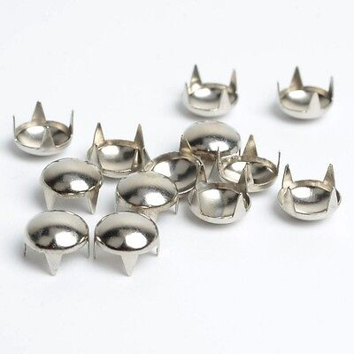 """Leather Crafts Pkg of 25 Silver 1//4/"""" 5406 ROUND Metal Tack Studs 6mm"""
