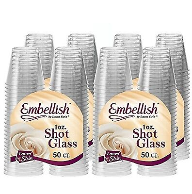 Embellish Crystal Clear Hard Plastic 1oz Clear Shot Glass Pack Of 200