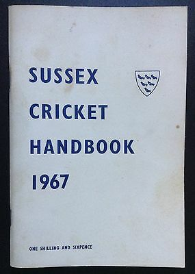 Sussex 1967 Official Cricket Handbook