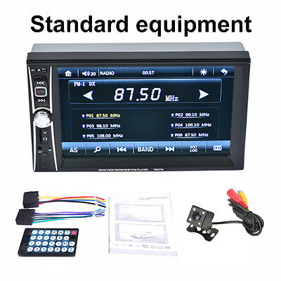 ... 6 6 2DIN Car Video Radio MP5 Player Bluetooth Touch TFT USB FM Stereo Camera