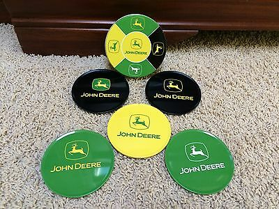 John Deere Coasters Set of 5  Tin Container Encore