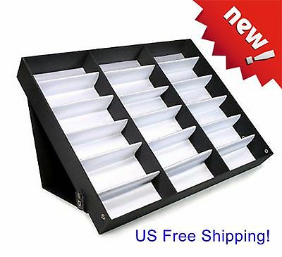 Sunglasses Case Display Rack Holder Stand Organizer Storage Tray 18pairs Eyewear