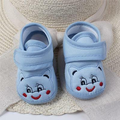 Newborn Infant Baby Boy Girl Anti-slip Soft Sole Crib Shoes Sneakers 0-18 Months